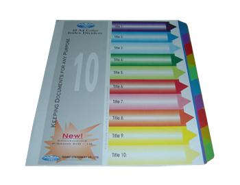 Chia file nhựa 10 màu