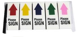 Giấy nhắn please sign