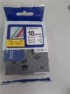 Băng mực dùng cho máy Brother 18mm trắng