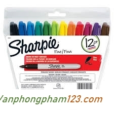 Bút lông dầu Sharpie 12 màu