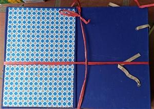 Cặp hộp gáy vải A3 30cm