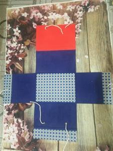 Cặp hộp vuông buộc dây 15cm A4