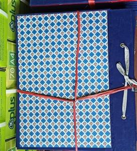 Cặp hộp vuông gáy vải A3 6cm