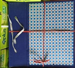 Cặp hộp vuông gáy vải A3 12cm