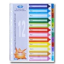 Chia file nhựa 12 màu