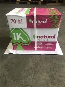 Giấy natural A4 70gsm mẫu mới