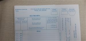 Giấy thi có dọc fax
