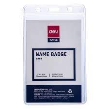 Thẻ đeo dọc 70*105mm Deli E5757A