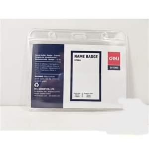 Thẻ đeo ngang 105*70mm Deli E5756A