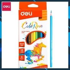 Bút sáp 12 màu hộp giấy Deli EC00100