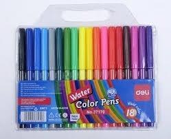 Bút dạ nước 18 màu Deli 37170