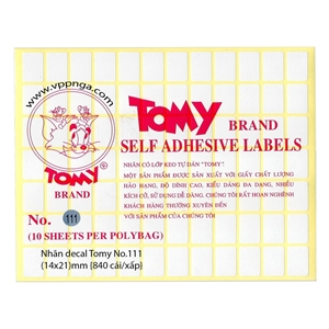 Giấy Decal Tomy 111